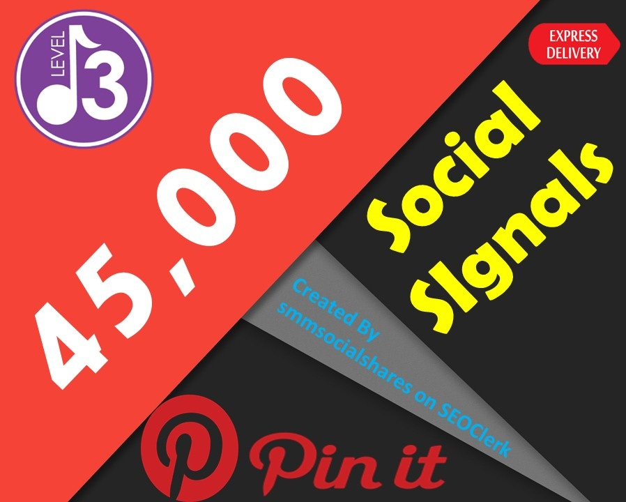 Latest OFFER 45,000 Real SEO Social Signals PR9 Pinterest Share No1 Social Media Bookmark