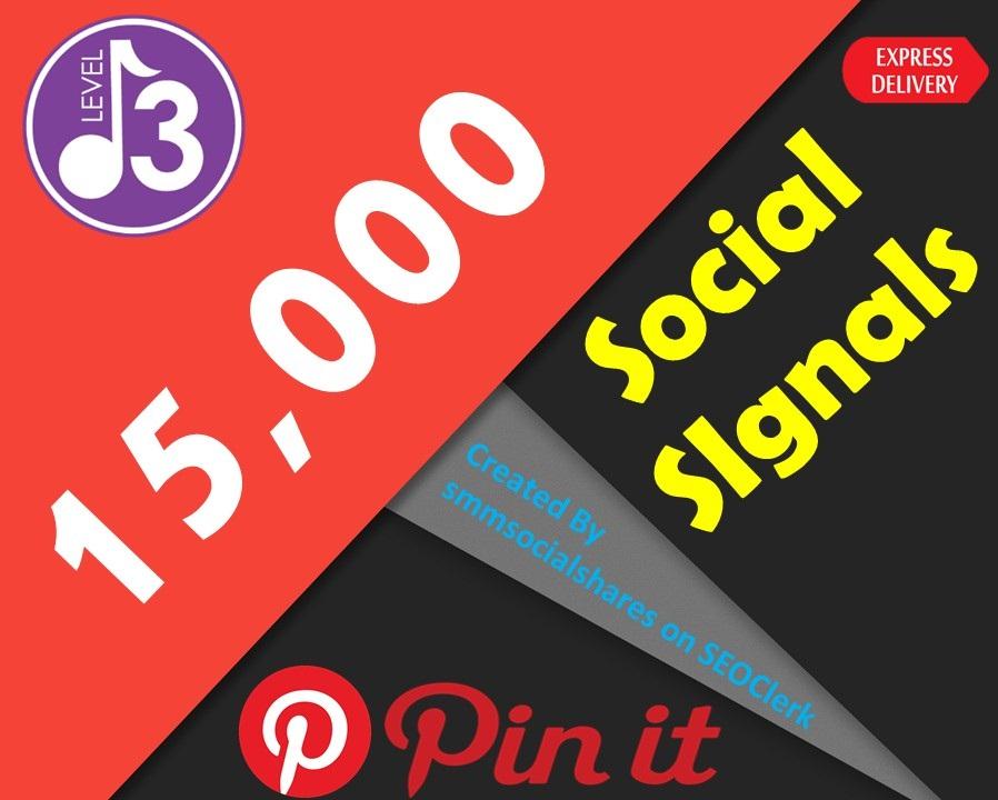 Quick Delivery 15,000 Real SEO Social Signals PR9 Pinterest Share No1 Social Media Bookmark