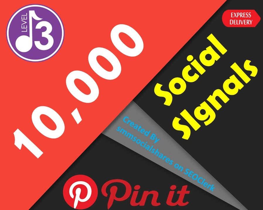 Quick Delivery 10,000 Real SEO Social Signals PR9 Pinterest Share No1 Social Media Bookmark