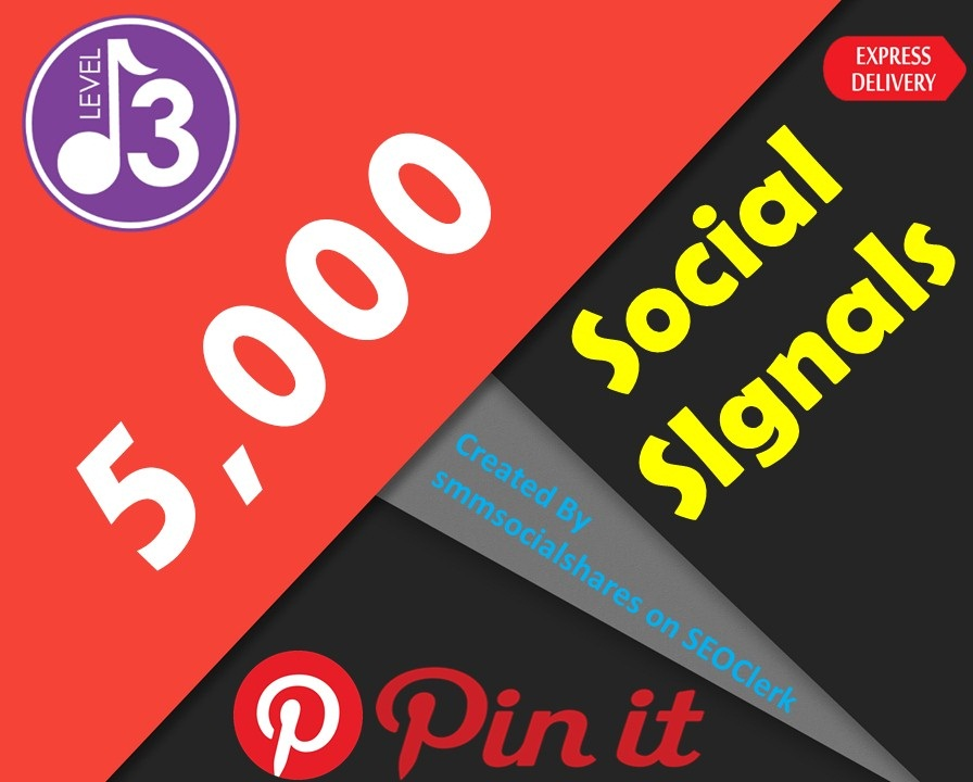 Quck Delivery 5,000 Pinterest Share Social Signals Important For SEO Ranking