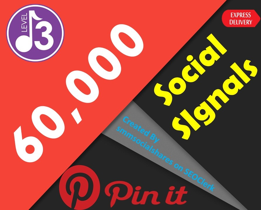 Express Service 60,000 Pinterest Share Social Signals Important For SEO Ranking