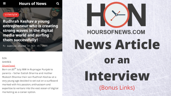 i will do an interview or news on Hoursofnews Website