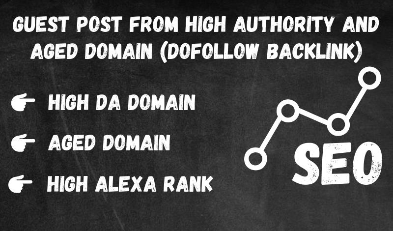 Guest Post on High Authority Domain + High Alexa Rank