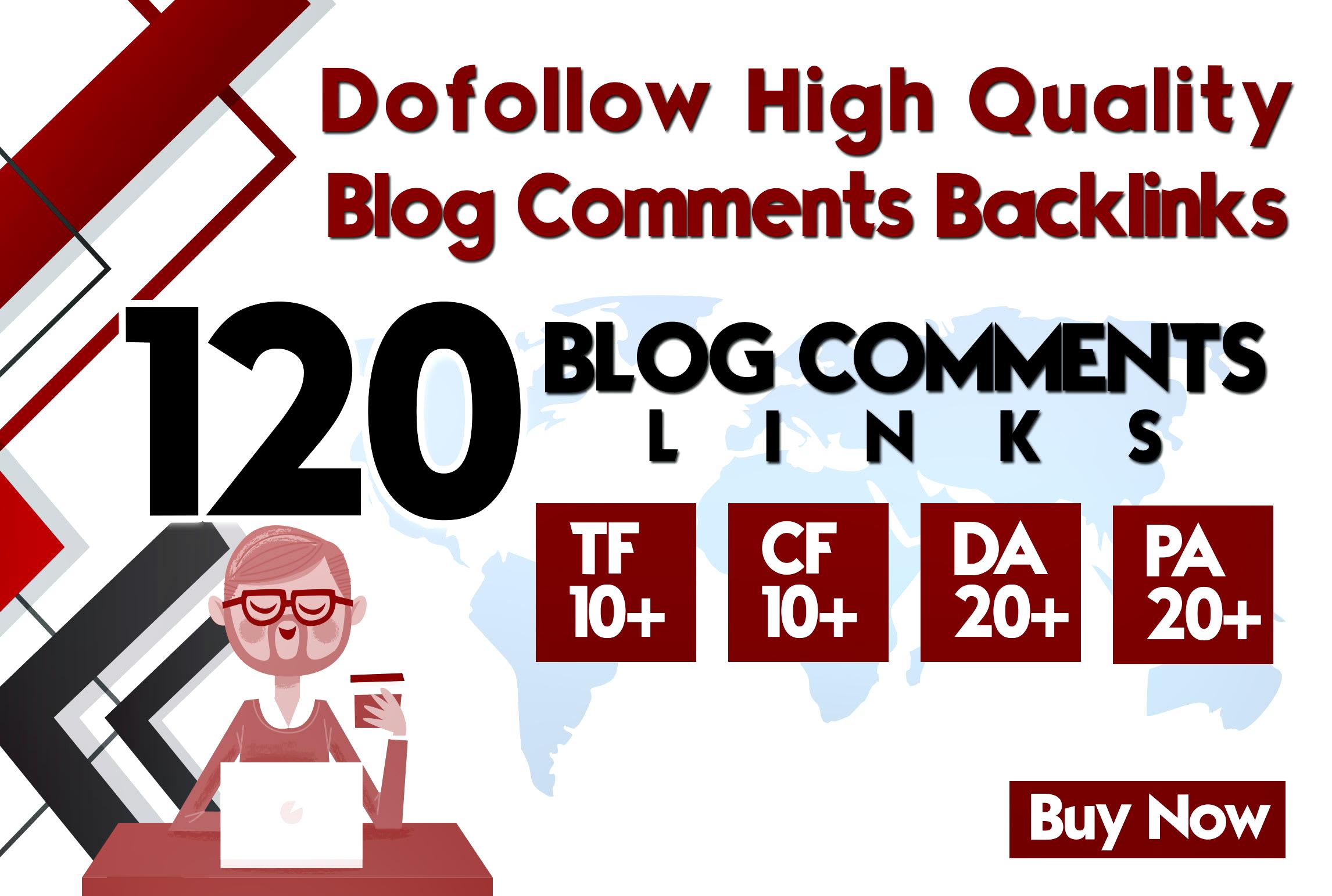 do manually 120 high da pa blog comment backlinks