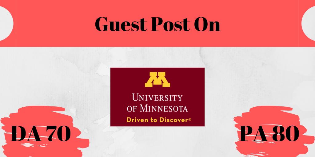 I will do a guest Post on UMN.edu DA75