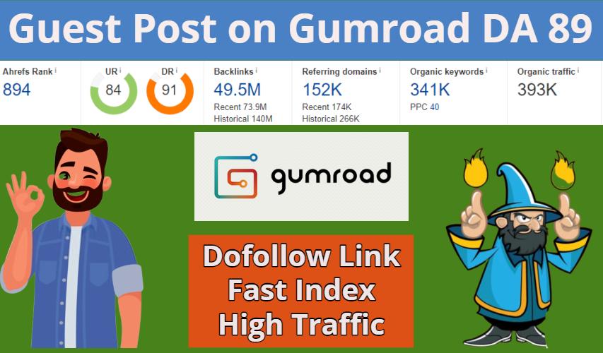 Get Guest Post on Gumroad DA 92 Dofollow Link