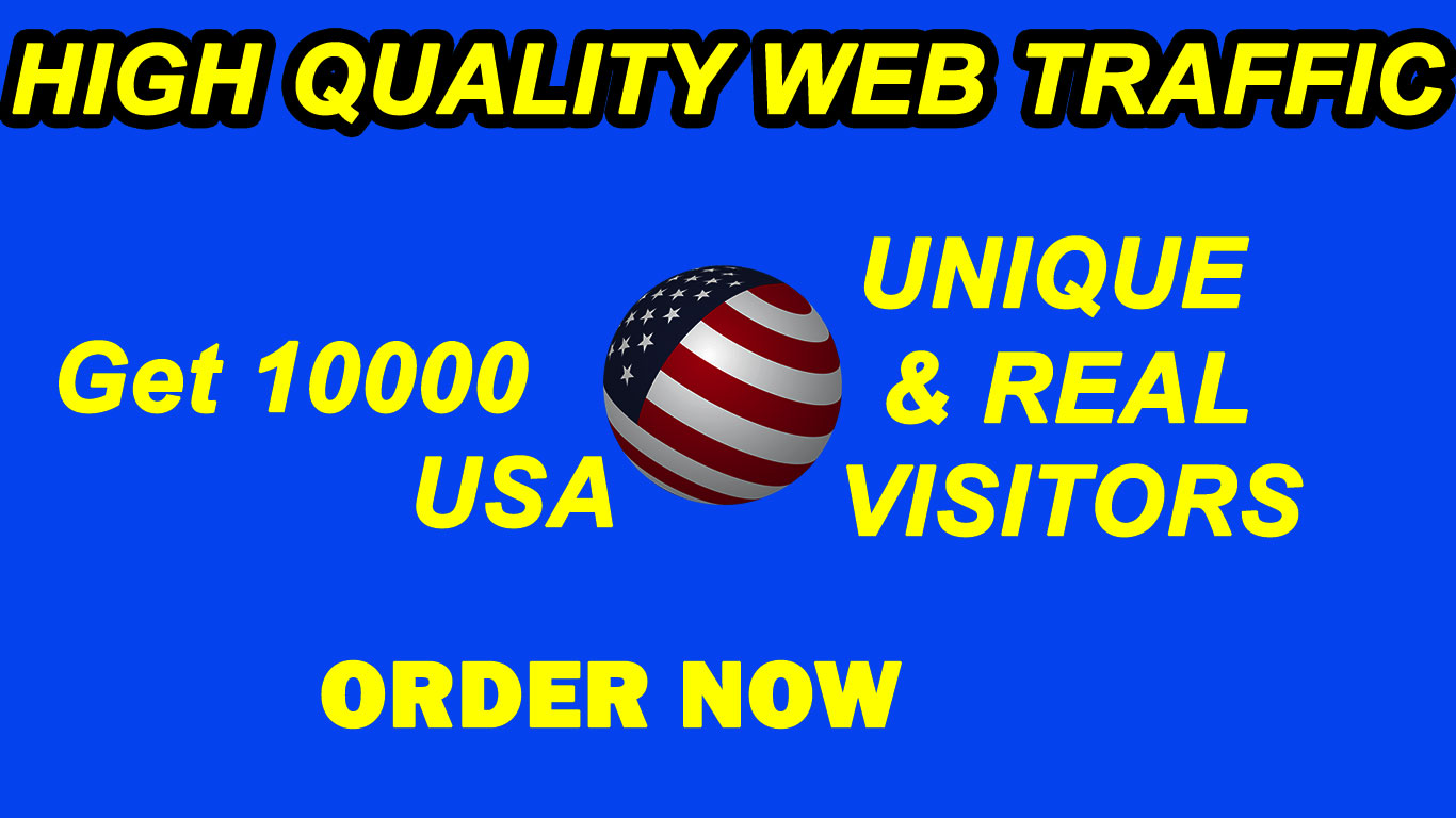10.000 High Quality Real Traffic for your website