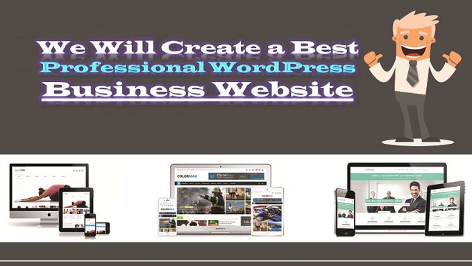 create a best professional wordpress business website