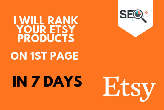 Etsy SEO Ranking On 1st Page In 6-8 days