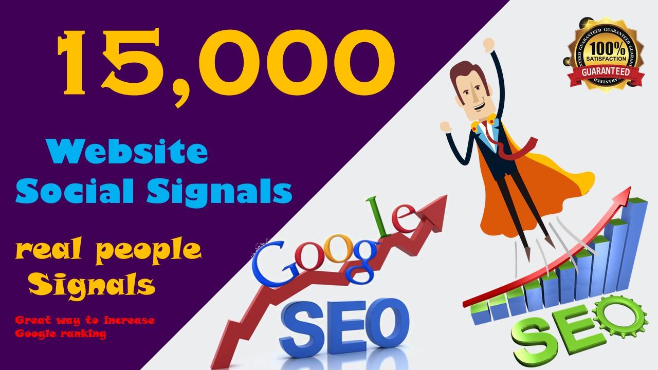 15000 Visitors from social media real safe web traffic