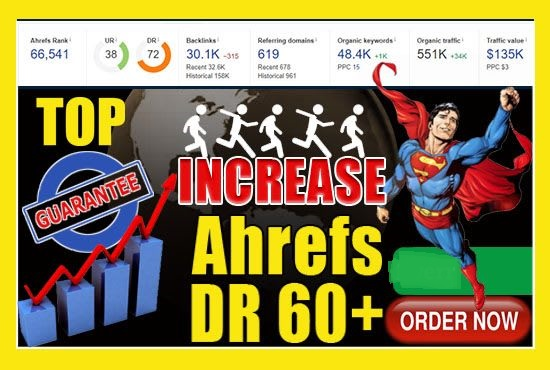 I will increase domain authority da and domain rating DR for ahrefs and moz