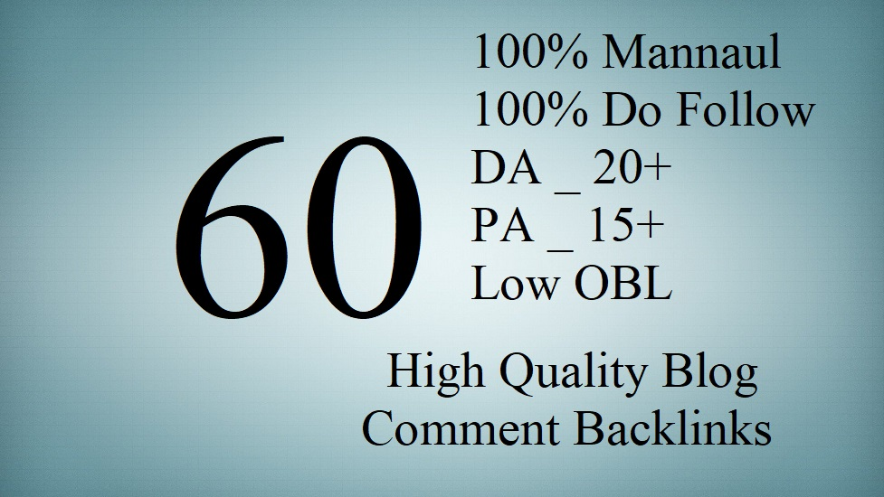 provide 60 dofollow blog comment baclinks