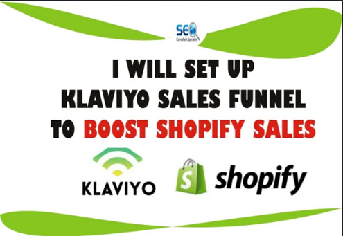 I will setup klaviyo and shopify integration and setup email flows