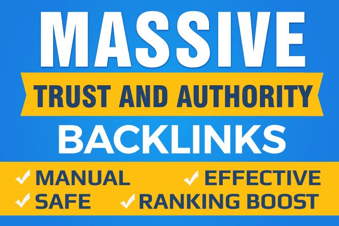 SEO with manual high authority backlinks and trust links