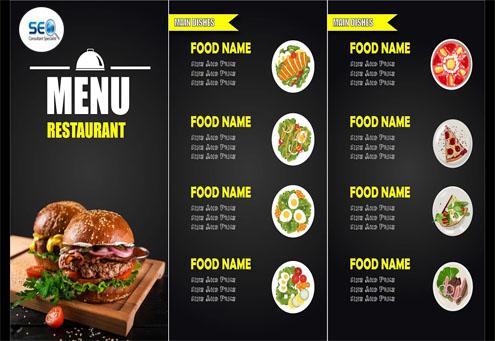 I will design food menu,  restaurant menu