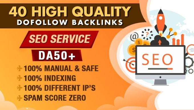 I will build high quality DR 50 plus dofollow seo backlinks