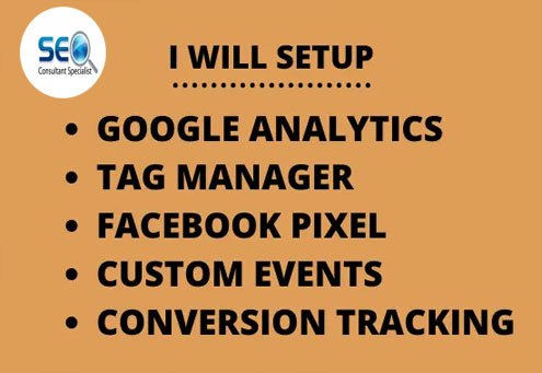 I will setup facebook pixel,  google analytics,  tag & ads campaign