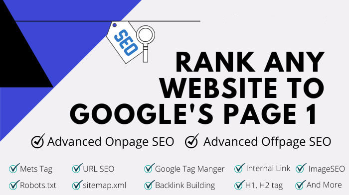 I will rank your website to google page 1 with advanced SEO service