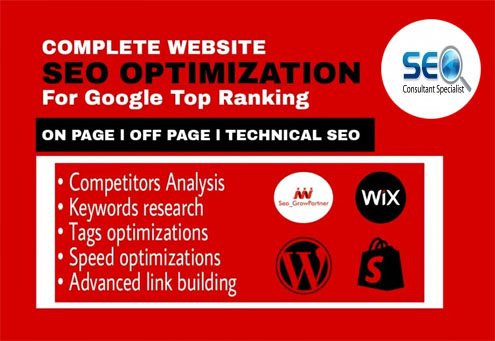 I will do website SEO optimization service for google top ranking