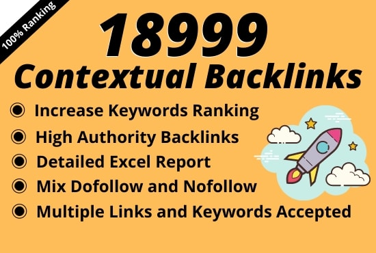 I will create 18999 tiered contextual SEO backlinks