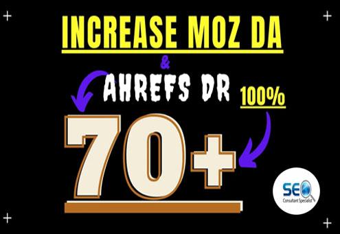 I can increase domain authority moz da 70 plus