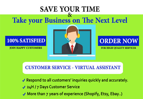 I will be your Customer Service agent Shopify Virtual Assistant Product Listings