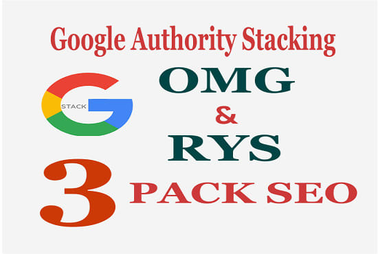 I will create google authority SEO stacking with rys and omg style