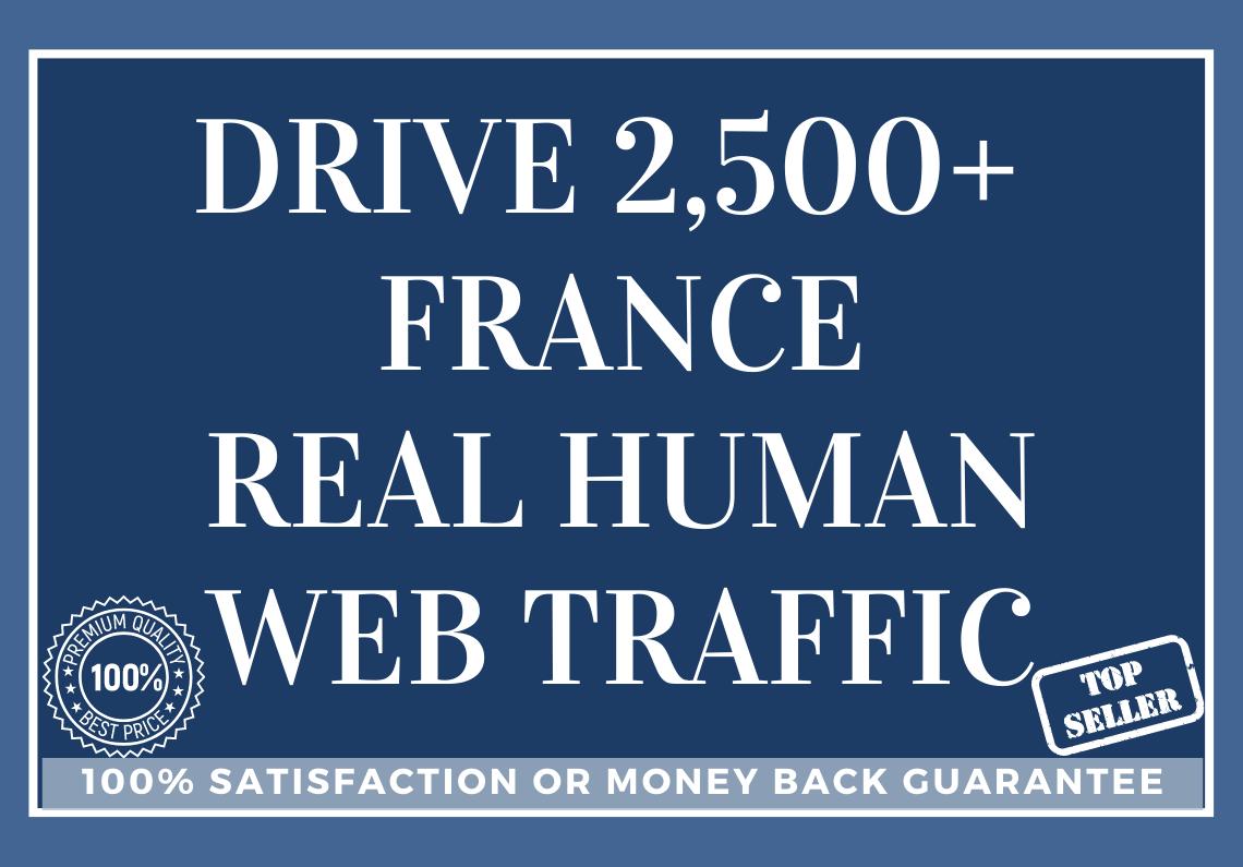 Drive 2,500 FRANCE Real Human Web Traffic