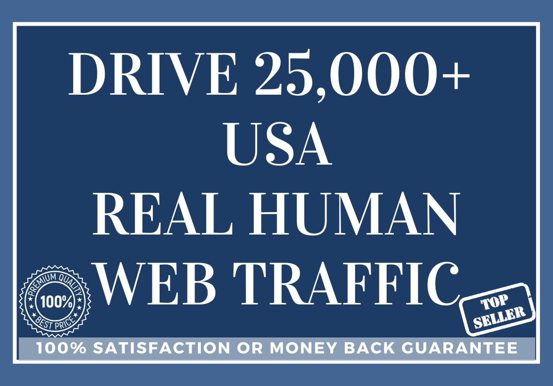 Drive 25,000+ USA Real Human Web Traffic