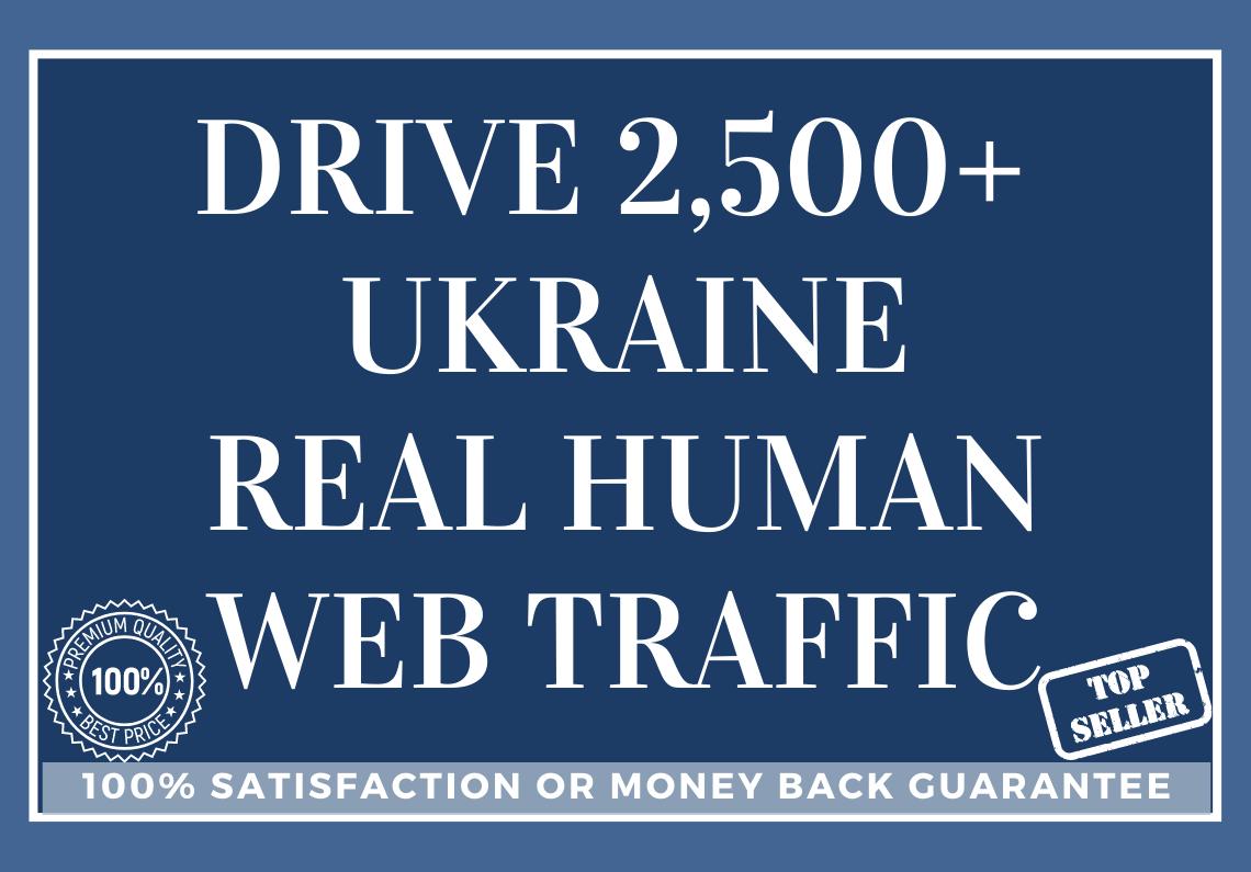 Drive 2,500+ UKRAINE Real Human Web Traffic
