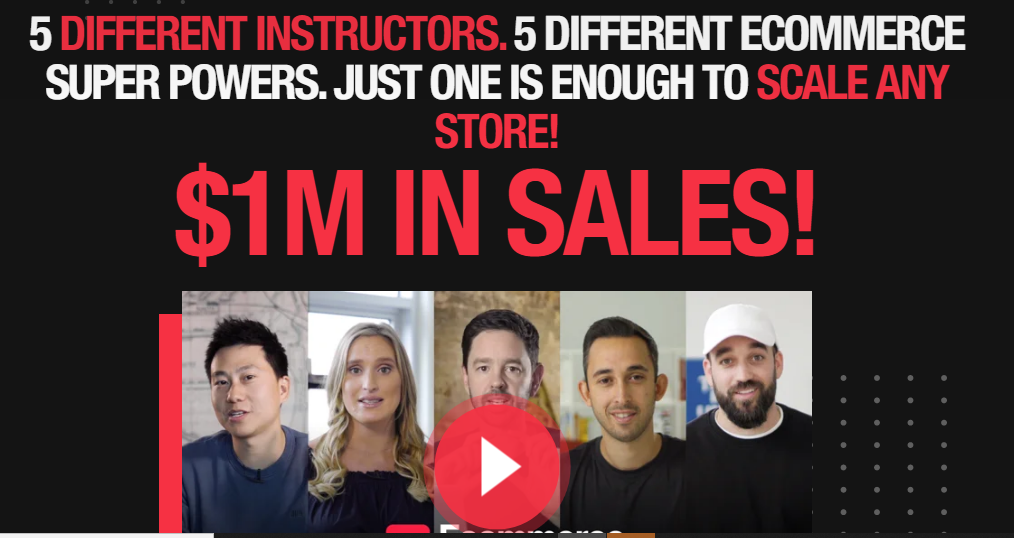 Ecommerce Masters 2020 - How to GROW & SCALE Your Store to the MILLION