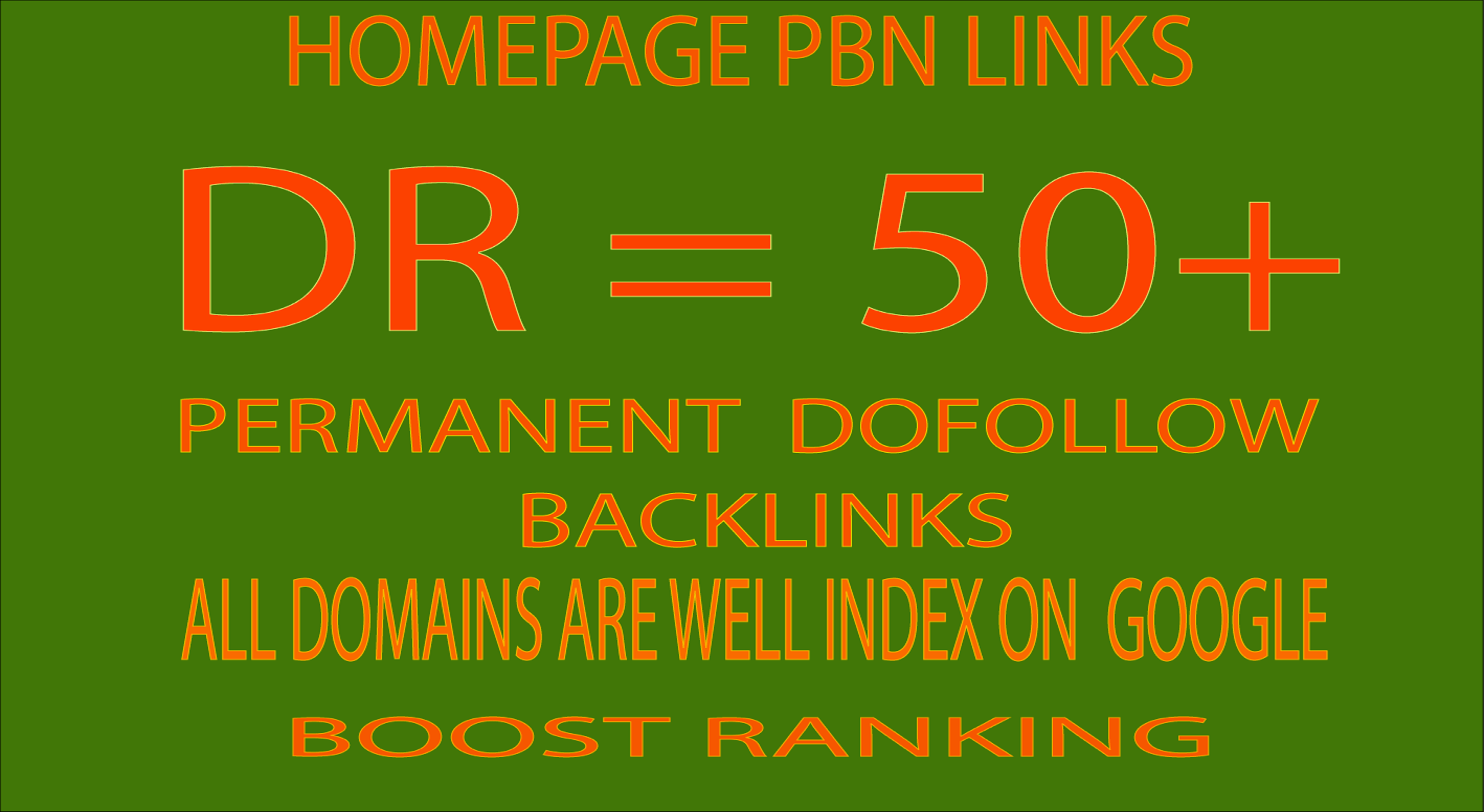 HIGH Quality DR 50 to 80 Homepage PBN Backlinks Manually Created DR 50 Plus PBN BACKLINKS from High