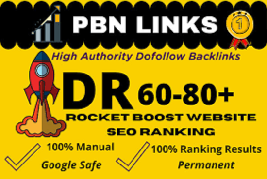 HIGH Quality DR 60 to 80 Homepage PBN Backlinks Manually Created DR 60 Plus PBN BACKLINKS