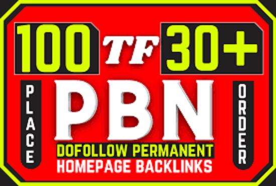 I will provide you homepage backlinks high tf 30+ high athority pbn