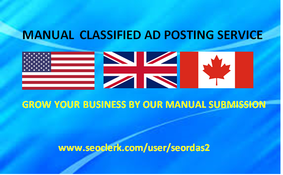 manually do classified ad posting for your business websites