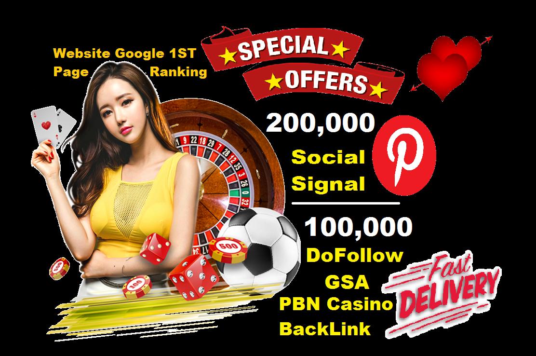 Best Offer Casino Poker DoFollow GSA PBN BackLinks Pinterest Social Signals Share SEO Website