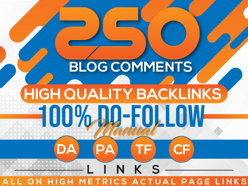 Manually 120 blog comment seo backlinks with high authority da