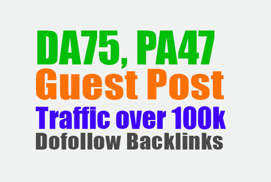 Guest Post on a High Authority Website,  DA86,  DR55 Ultimate Ranking Solution Ever
