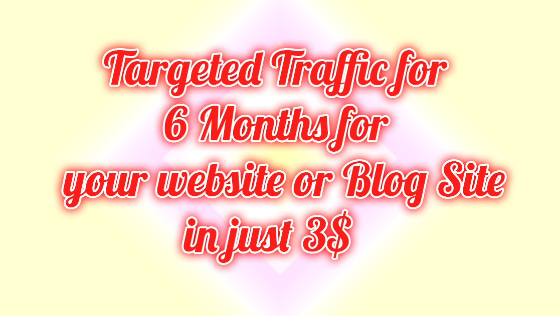 Targeted Traffic for 6 Months for your website or blogsite