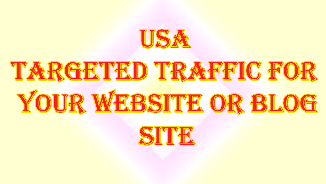 USA Targeted Traffic for your website or blog site