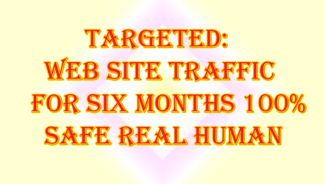 TARGETED web site Traffic for six Months 100 Percent Safe Real Human