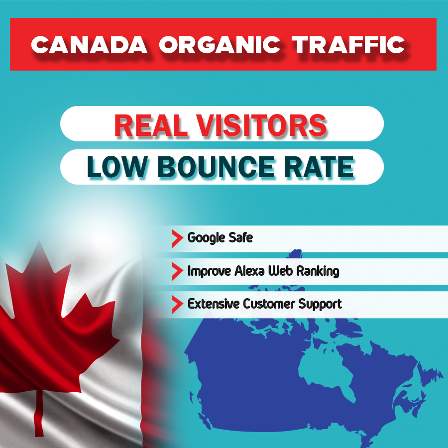 Canada Targeted Traffic To your Website or Blogsite