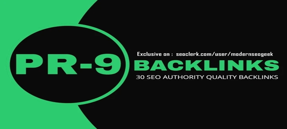 I will create 30 pr9 seo authority link building,  Backlink