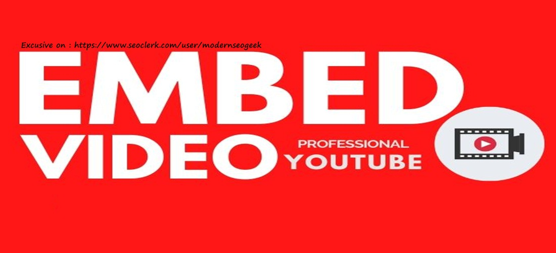 I will video embed your YouTube Video on web 20 properties