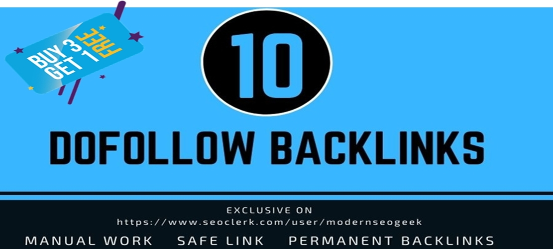 I will provide 10 Dofollow Seo Link building,  Backlinks