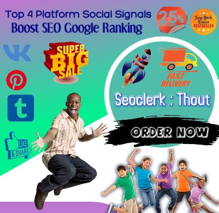 Top NO4 Powerful 8k Mixed Pinterest Facebook Tumblr VK SEO Social Signals Bookmarks Ranking Google
