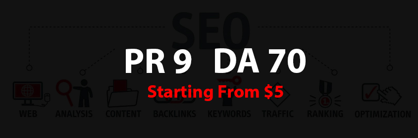 I will provide PR9 - DA 70 Backlinks