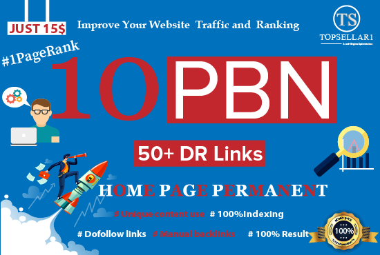 Provide High Pr 10 PBN Backlinks Homepage Permanent Links dr 50 to 60 backlinks