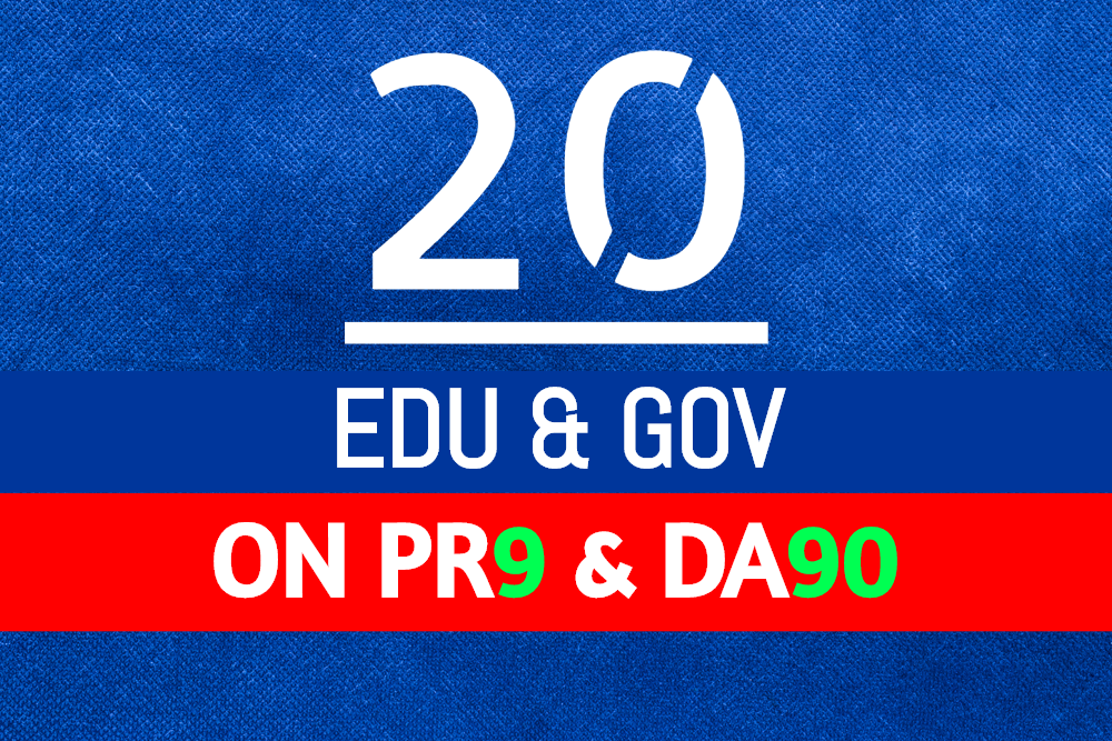 Build 20 Plus US Based Edu Gov links on Da90 Pr9 Unique Domains