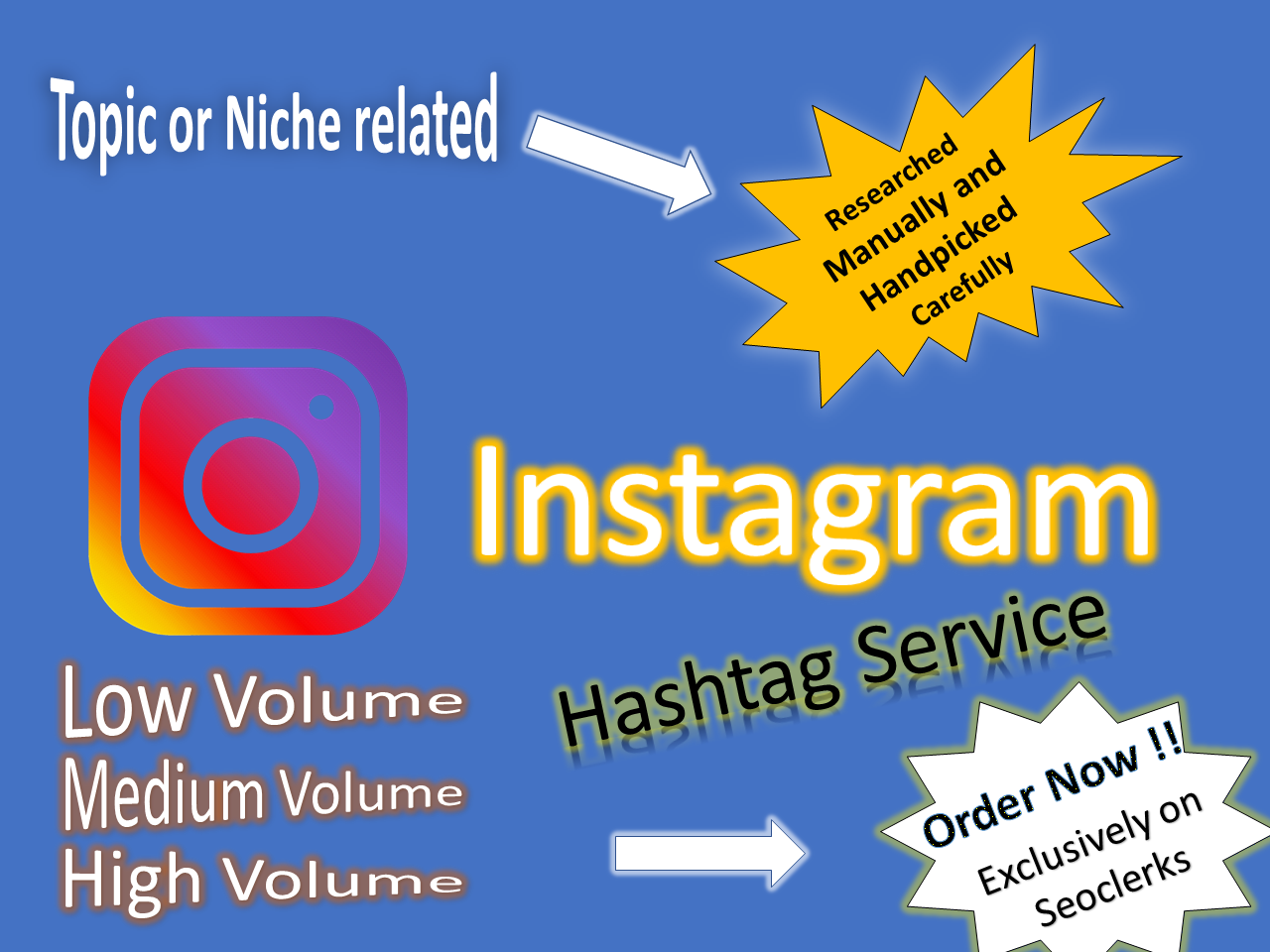 provide relevant hashtags for your instagram researched manually